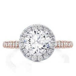 Two-Tone Halo ROmantic Engagement Ring