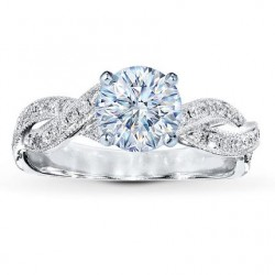 Honeymoon GIA Certified Pave Engagement Ring