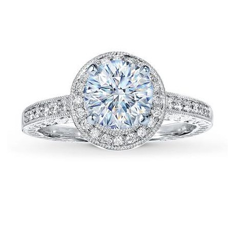 Honeymoon GIA Certified Halo Engagement Ring