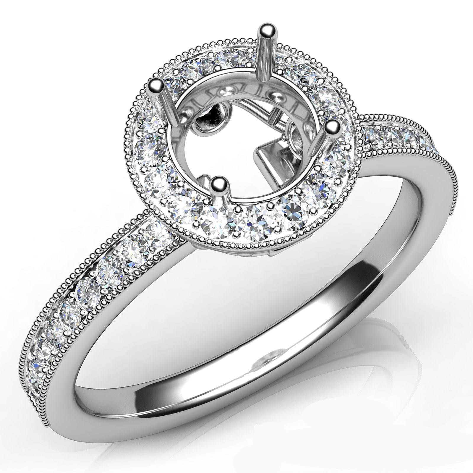 cut round ring vintage brilliant product in rings engagement diamonds century mid platinum