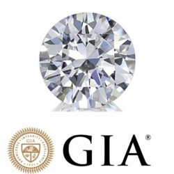 0.50Ct Real Natural Round Cut White Diamond SI2  J Color
